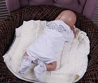 Нарядный комплект Ангел боди+носочки (серебро), фото 1