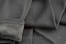 Лосины трикотажные на меху 3XL серые, фото 3