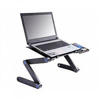 Столик для ноутбука с активным охлаждением 2 вентилятора компактный Laptop Table T8