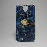 Чехол на Lenovo s820 панель накладка джинсы