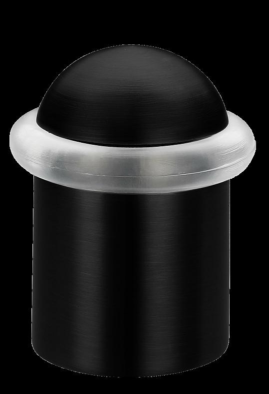 Упор дверной (40х26 мм) черный LINDE M-38L BL