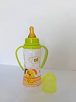 Бутылочка  для кормления с латексной  соской и ручками, 250 мл Baby Team, фото 1
