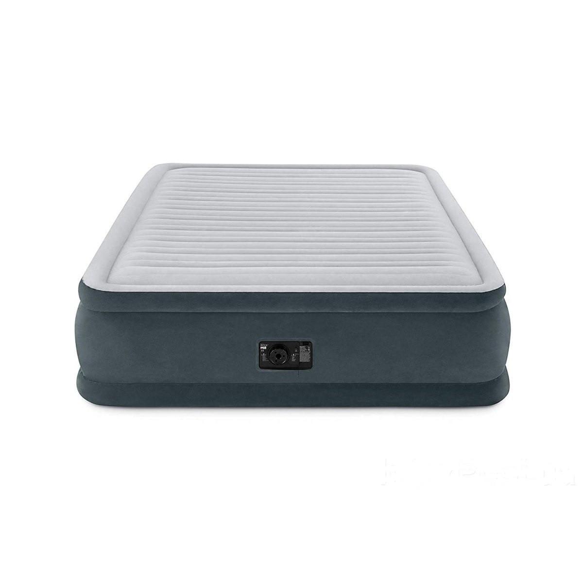 Надувна двоспальне ліжко Intex 64414 Comfort-Plush з вбудованим електронасосом і сумкою для зберігання