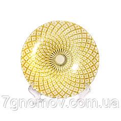 Тарелка стеклянная Bailey Shinning Gold 20 см (500-17)