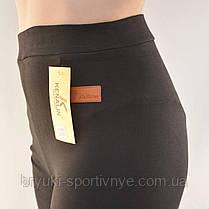 Лосіни жіночі трикотажні Kakamee M/L чорні, фото 3