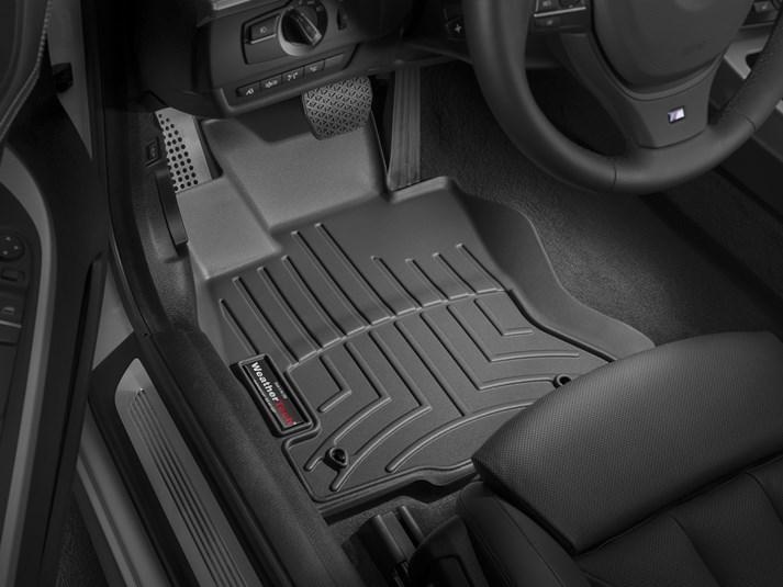 Ковры резиновые WeatherTech BMW 6-Series (F12/F13/F06)  2011-2019 передние черные 4WD