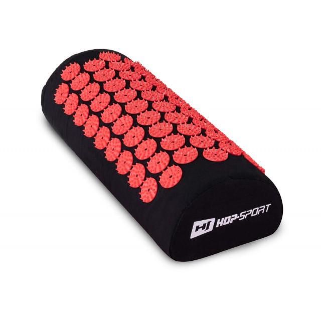 Подушка для акупунктуры HS-C037AP (Аппликатор Кузнецова) черно-красная для дома и спортзала