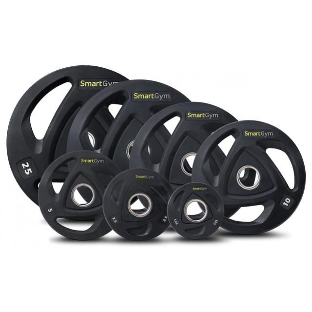 Купить Диски олимпийские обрезиненные 60 кг SmartGym сет металлических блинов для дома и спортзала D: 50 мм, Hop-Sport