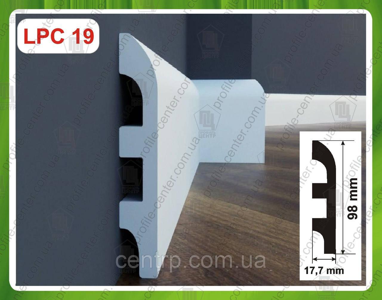 Плинтус 98 мм напольный из дюрополимера LPC-19 Cezar Elegance