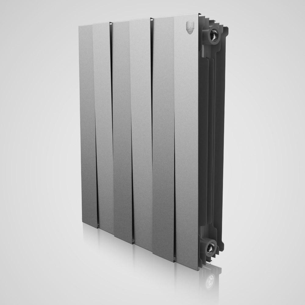 Радіатор біметал Piano Forte 500 (Silver Satin) 8 секцій Royal Thermo