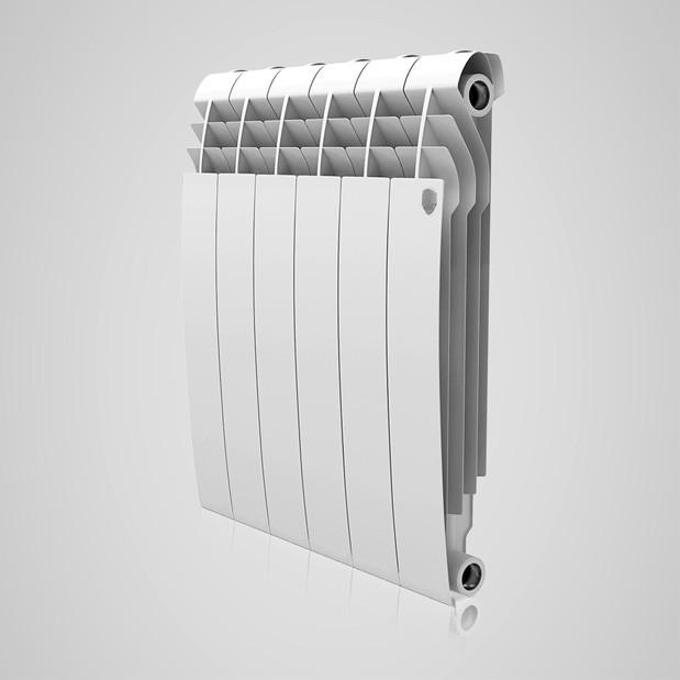 Радіатор біметал BiLiner 500 new 10 секцій/Bianco Traffico Royal Thermo