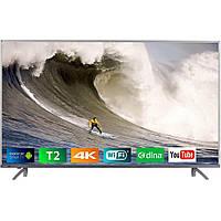 """Телевізор 55"""" BRAVIS UHD-55G7000 Smart +T2 silver"""