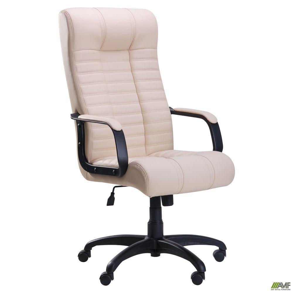 Кресло офисное AMF Атлантис Пластик Софт Неаполь N-17 ванильное