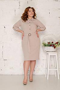 Платье-рубашка в полоску 50-56 р ( разные цвета )