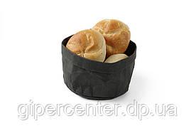 Крафт-бумажный мешок для хлеба - черный, 170x170x(H)150 мм