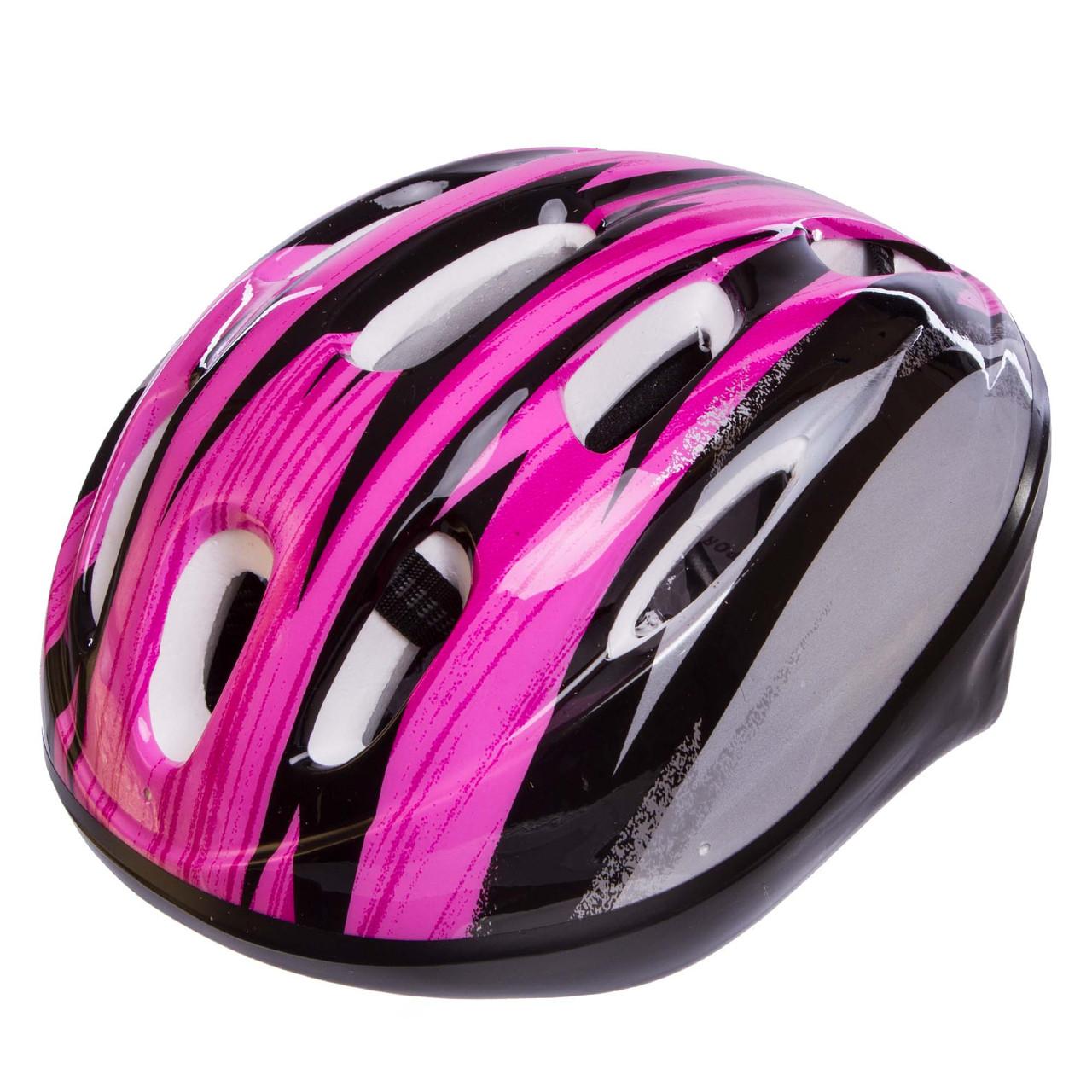 Велошлем шоссейный с механизмом регулировки Zelart MV10, Розовый S (53-55)