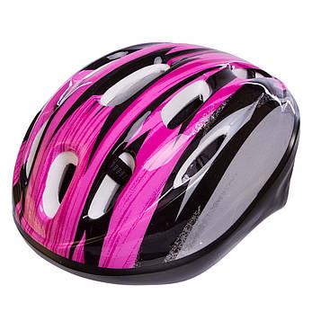 Велошлем шоссейный с механизмом регулировки Zelart MV10, Розовый S (53-55), фото 2