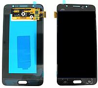 Дисплей (модуль) + тачскрин (сенсор) Samsung Galaxy J7 2016 J710F J710H J710M (черный, яркость регулируется)