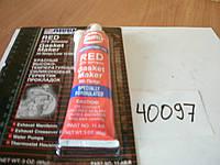 ABRO 11 AB Герметик силиконовый красный tmax-330 (85г)