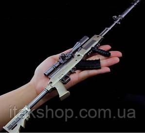 Брелок снайперская винтовка из игры PUBG SKS (Металл)