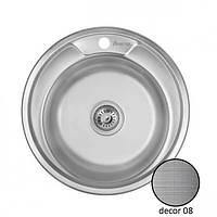 Кухонная врезная нержавеющая мойка круглая IMPERIAL 510-D 0.8 DECOR 180
