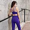 Женский спортивный топ для фитнеса фиолетовый 4187, фото 2