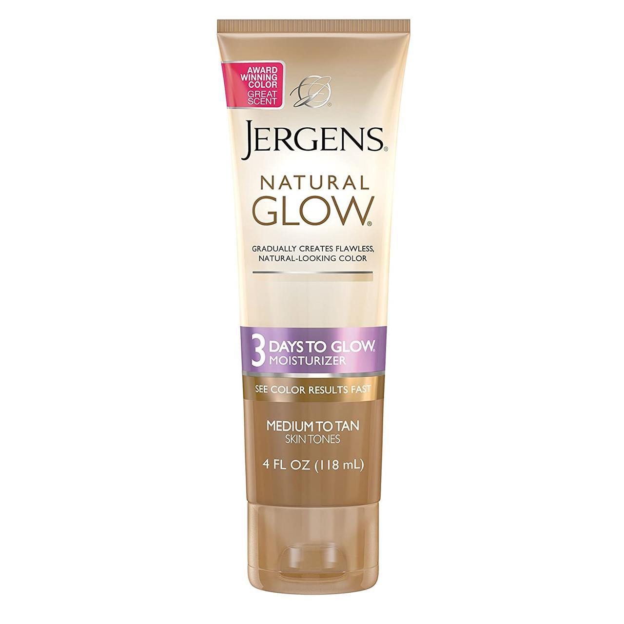 Увлажняющий лосьон-автозагар Эффект за 3 дня Jergens Natural Glow Moisturizer 3 Days Medium to Tan 118 мл