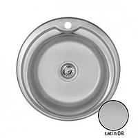 Кухонная врезная нержавеющая мойка круглая IMPERIAL 510-D 0.8 SATIN 180