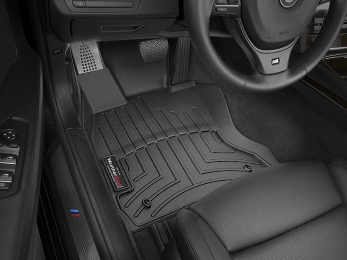 Ковры резиновые WeatherTech  BMW 7-Series (F01/F02) 2008-2014  передние черные 4 WD