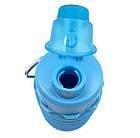 Силиконовая складная бутылка ЧЕРНАЯ 500 мл   Спортивная бутылка с поилкой силиконовая, фото 3