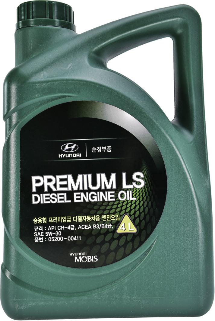 Моторное масло Hyundai/KIA 5W-30 Premium LS Diesel (4л) Оригинальное