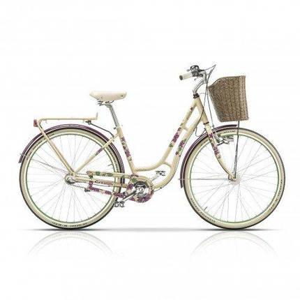 "Велосипед 28"" CROSS Picnic Flowers 3 spd рама 20"" 2015 белый, фото 2"
