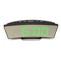 Электронные LED часы настольные с зеленной подсветкой  UKC 6507, фото 1
