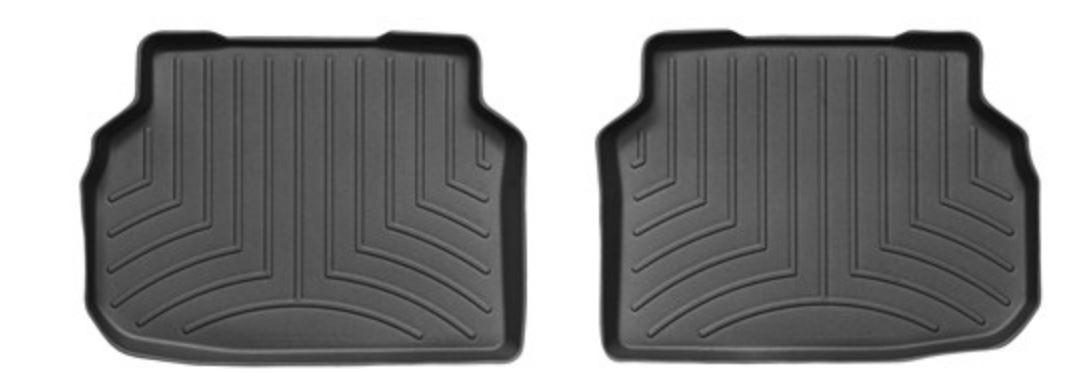 Ковры резиновые WeatherTech BMW 7-Series (F01/F02) 2008-2012  задние (STANDART  база) черные