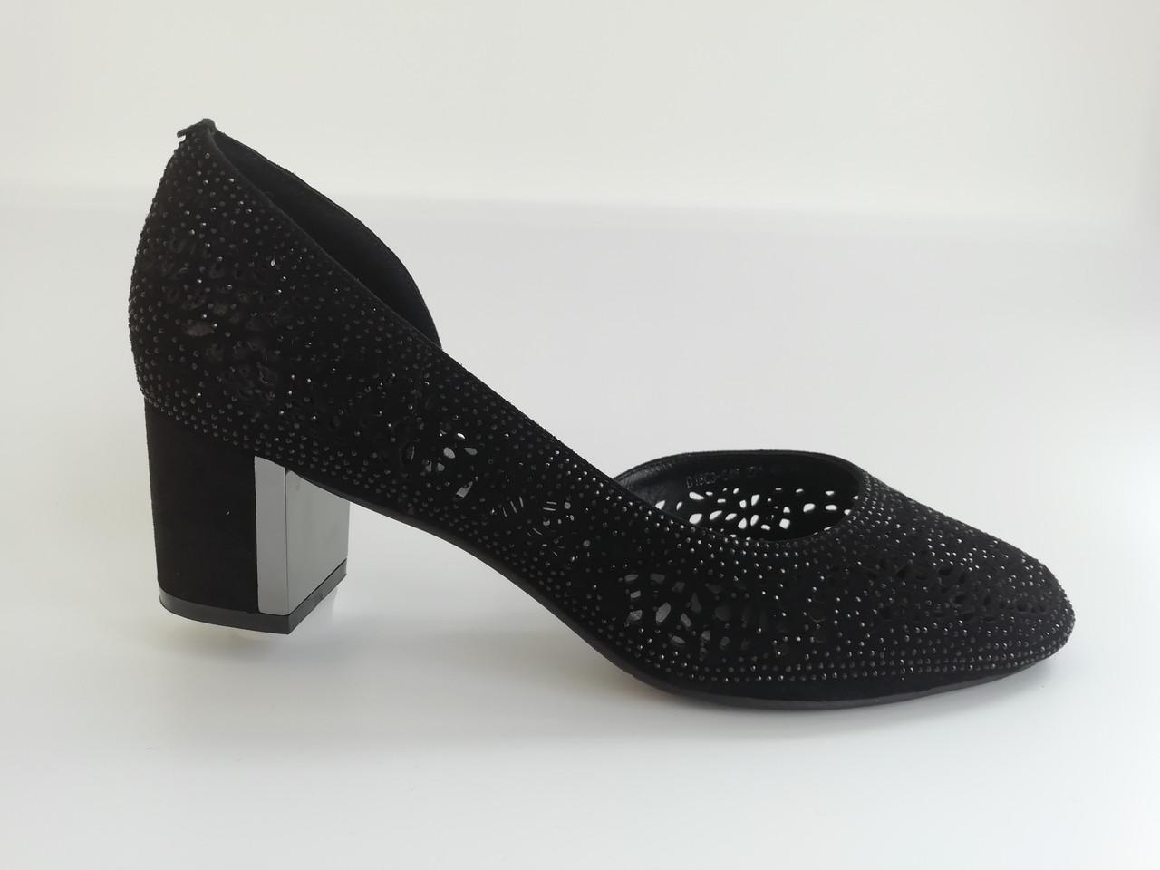 Летние замшевые туфли с перфорацией. Большие размеры ( 41 - 43 ).