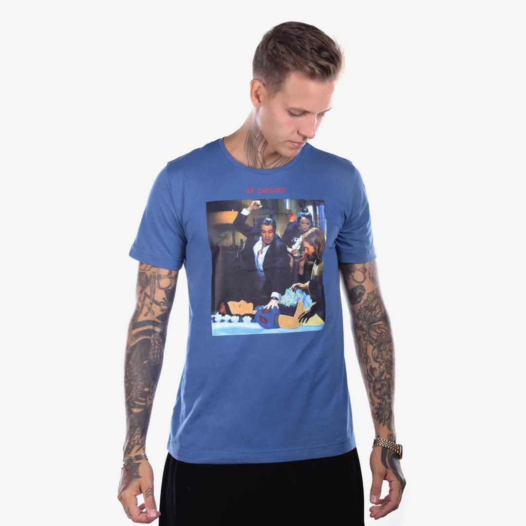 Футболка мужская MY DARLING синяя