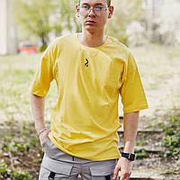 Футболка оверсайз базовая Пушка Огонь Lindra желтая, фото 1
