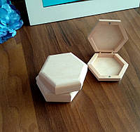 Мини - шкатулка шестигранник  (9*10*3 см.)