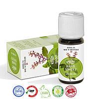 Натуральное швейцарское эфирное масло Базилика сладкого французского VIVASAN Original 10мл концентрат 100% GMP Sertified (WB571770)