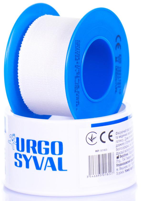 Лейкопластырь Urgo Syval шелковая лента 5 м*1,25 см