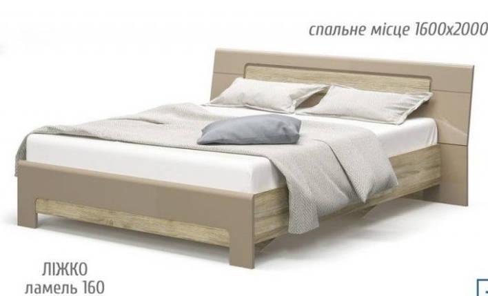 Ліжко Флоренс 160 + дер.вкл., фото 2