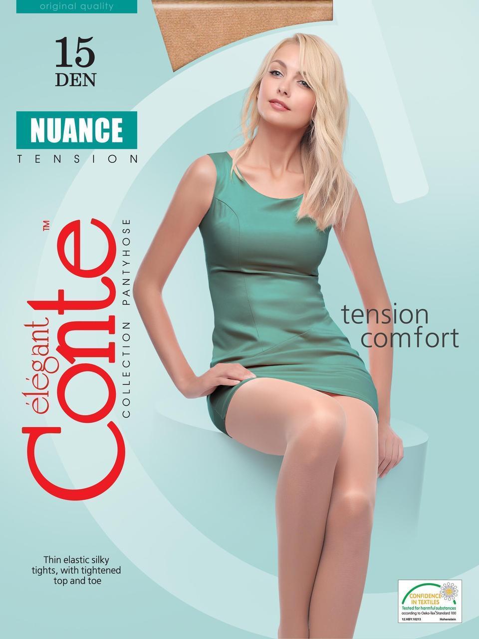 Колготки Conte Nuance 15, р.4 (nero)
