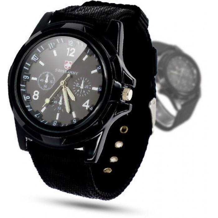 Мужские часы Swiss Army Чёрные