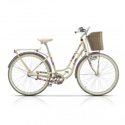 "Велосипед 28"" CROSS Picnic Flowers 3 spd рама 18"" 2015 белый"