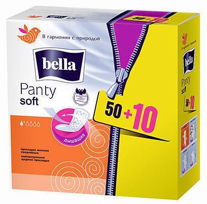Прокладки Bella Panty Soft ежедневные 50+10 шт
