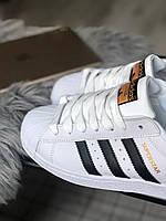 Adidas Superstar white black Мужские кроссовки Адидас Суперстар белые. Классические кожаные кросы Адидас