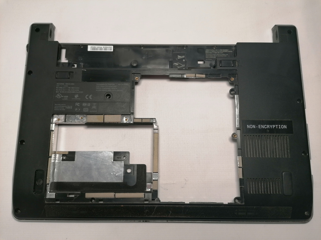 Б/У корпус поддон (низ) для LENOVO ThinkPad Edge 13, E30, E31 (34PS2BSLV00) 04W0349