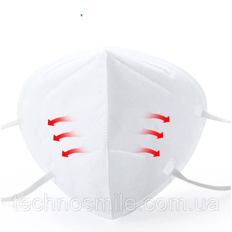 Защитная маска респиратор для лица класс FFP2