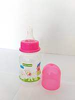 Бутылочка с талией и силиконовой соской, 125 мл Baby Team