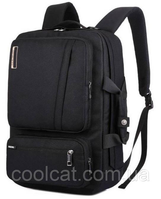 Сумка для ноутбука Socko / Городской рюкзак / Портфель Черный (46 х 33 х 13 см.)